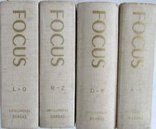 Encyclopédie internationale Focus 4 volumes / Éditions Bordas Années 1963 à 1965