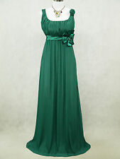 Cherlone Plus Size Chiffon Green Ballgown Wedding Evening Bridesmaid Dress 18