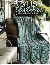 Stylish Texture Crochet Afghans | Leisure Arts 4464 NEW!