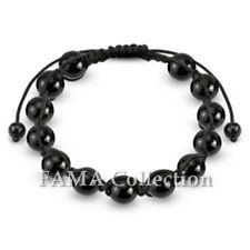 Stylish FAMA Black Metallic Beads Shamballa Bracelet NEW
