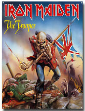 IRON MAIDEN THE TROOPER METAL SIGN, HEAVY METAL MUSIC, EDDIE, POSTER