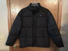 Nautica Men Winter Jacket Removable Hooded Water Resistant Jacket,Black X-Large