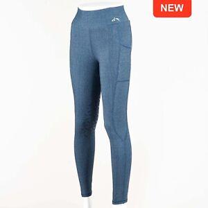 Gallop High-Waist Pocket Denim Look Silicone Knee Tights