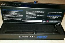 AbsolutHeat Pro-Ion Titanium Professional Curling Wand Rod (NEW)