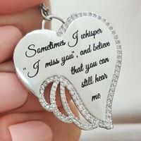 Chic 925 Silver White Topaz Heart Pendant Chain Choker Necklace Wedding Jewelry