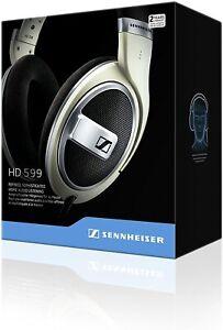 BRAND NEW Sennheiser HD 599 Headphones Wired, Ivory Matt Finish HD599 FREE POST