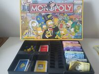 The Simpsons Monopoly Board Game - Parker Hasbro Games Complete - VGC