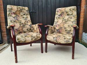 Vintage Cintique Ladies And Gents Armchairs Original Condition