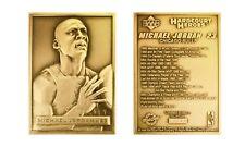 MICHAEL JORDAN Upper Deck Highland Mint 24KT GOLD Plated Bronze Mini Card RARE