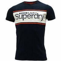Superdry M10135TU 98T Retro Sport Logo Tee Vintage T-Shirt Eclipse Navy