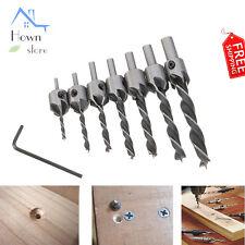 Countersink Drill Bit Set Rotating Depth Stop Plug Wood Mill Plug Reamer