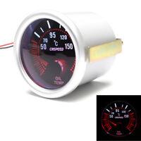 2''52mm 12V Car LED Bar Turbo Oil Temperature Gauge Meter Red Illuminated Needle