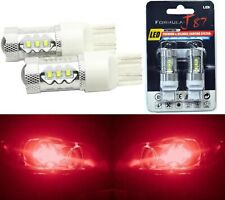 LED Light 80W 7440 Red Two Bulbs Stop Brake Tail Upgrade Replacement Lamp