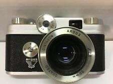Argus c44 35mm camera lens f2.8 50mm coated and case made in USA parts