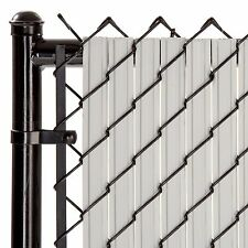 Chain Link Gray SoliTube™ Max-Privacy Slat For 6-ft Fence Bottom Lock