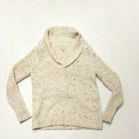 Dressbarn Beige Wool Blend Pull Over Cardigan Sweater Women's Size Medium