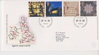 GB ROYAL MAIL FDC FIRST DAY COVER 2000 SPIRIT & FAITH STAMP SET BUREAU PMK