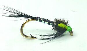 CRACKTON NYMPH TROUT FISHING FLIES - SIZE 10