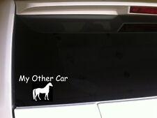 "My Other Car Horse vinyl window sticker car decal 6"" *B32* pets farm animals"