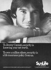 1981 Tennis Legend Jimmy Connors photo SunLife Insurance promo print ad