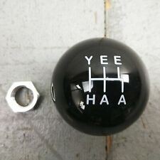 White YeeHaa 5 Speed Black Shift Knob M16 x 1.5 JDM C5 Corvette Hot Rod Turbo V8