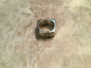 Artisan Modernist Sterling 925 Kinetic Stacked Ring Size 6