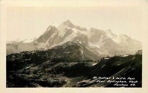 WASHINGTON RPPC POSTCARD: SCENE OF MT. SHUKSAN & AUSTIN PASS BELLINGHAM, HUNTOON