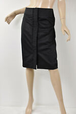 NWT TALBOTS Black Ruched Ruffle Front Stretch Cotton Sateen Pencil Skirt M 8