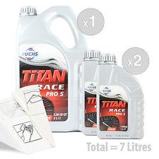 Car Engine Oil Service Kit / Pack 7 LITRES Fuchs Titan Race Pro S 5W-30 7L