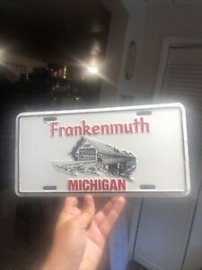 Vintage 1980s Frankenmuth Michigan Booster License Plate Souvenir
