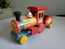 Vintage Fisher Price Looky Chug Chug #220 1950's Bell Ringer Train Pull Toy 1957
