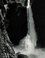 1950s Vintage ANSEL ADAMS Yosemite Water Falls Landscape Photo Gravure Art 16x20