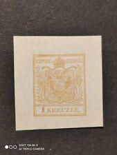 stamp new 1 kreuzer old states Austria test print?