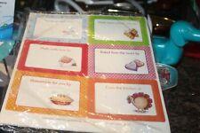 baked goods sticker labels