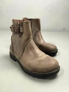 Women's Birkenstock Taupe Leather Boots Size 36