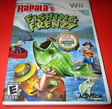 Rapala's Fishing Frenzy Nintendo Wii   Factory Sealed! Free Shipping!!