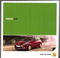 Renault Clio Hatchback & Sport Tourer 2010-11 UK Market Sales Brochure