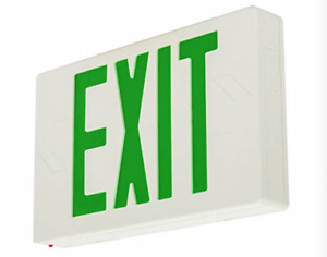 GREEN LED Emergency Exit Light Sign - Battery Backup UL924 Fire (GREEN ONE)