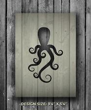 A5 Octopus Mylar Reusable Stencil Airbrush Painting Art Craft DIY Home Decor