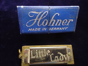 "Vintage Mini 1.5"" Hohner Harmonica ""Little Lady"" with Box"