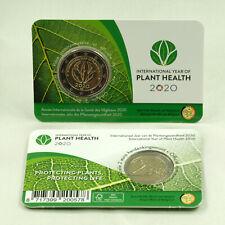 2 Euro Münze Gedenkmünze Belgien Jahr der Pflanzengesundheit 2020 in Coincard