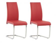 Metro Lane Monaco Dining Chair, Pillar Red, Set of 2