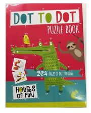 DOT TO DOT PUZZLE BOOK 264 PAGES BIG A4 SCHOOL CHILD CHILDREN KIDS COLOURING 28B