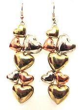 EX River Island stone drop/dangle GOLD earrings (C248 - C259)