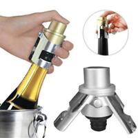 Stainless Steel Champagne Stopper Sparkling Wine Bottle Sealer Saver Tool QK