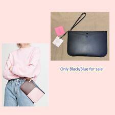 Kate Spade bicolor large wristlet chic wallet pouch leather slim black/blue NWT