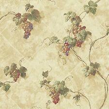 Grape Vines on Tuscan Diamond Tile Easy Walls Wallpaper AT76312