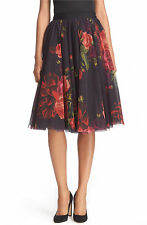 Ted Baker London ONDRA Juxtapose Rose Tutu Full Flirty Midi Skirt in OXBLOOD 8