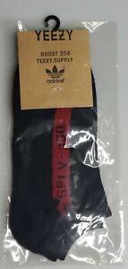 Adidas Yeezy Boost 350 Black Red Socks New 1pair