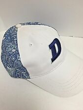 Dickies Baseball Trucker Hat Cap Cotton Paisley White Blue Adjustable Strap